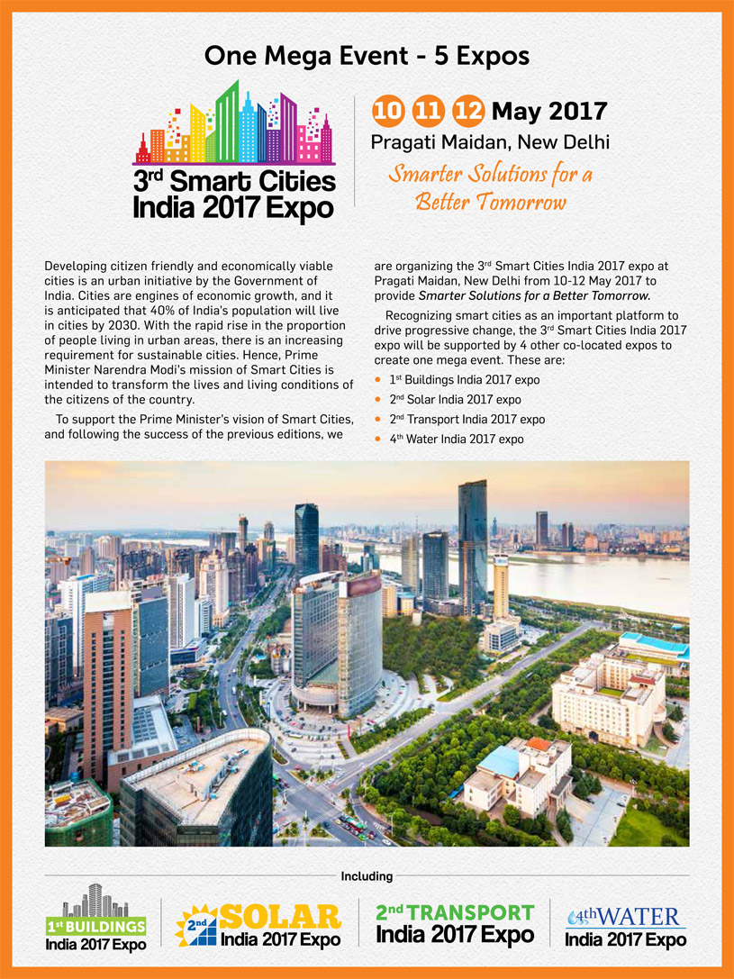 3rd Smart Cities India 2017 Expo Brochure